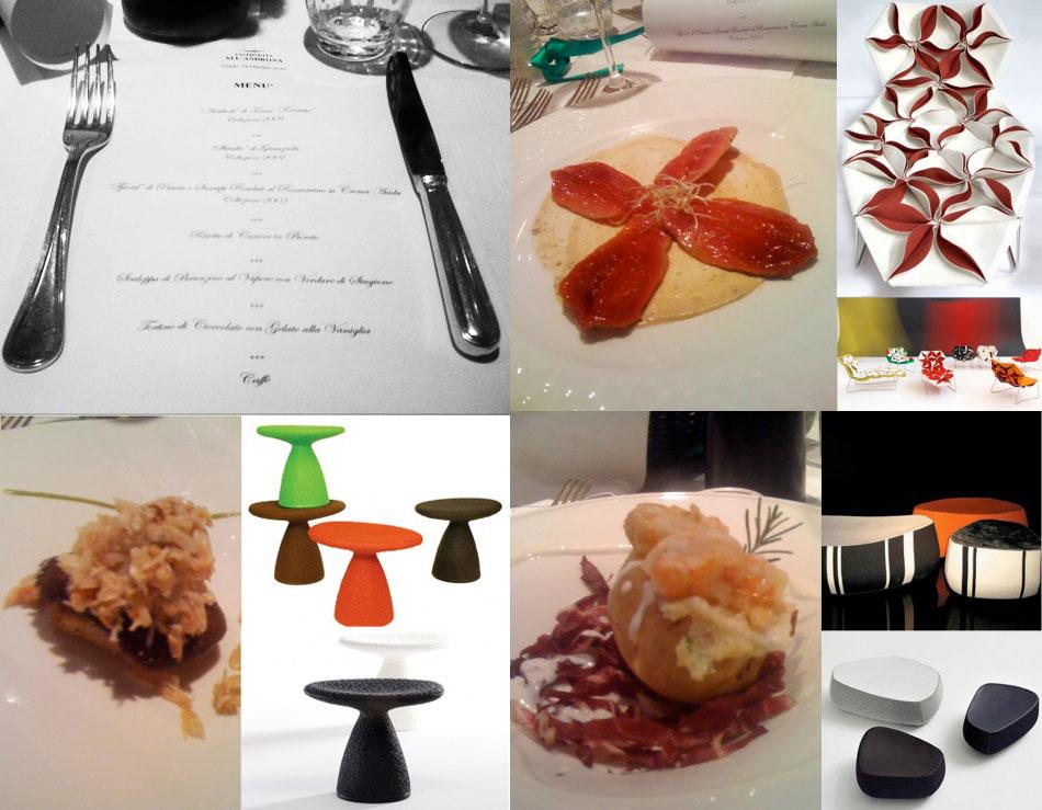 Cibo & Design. Moroso e Tavernetta All'Androna.