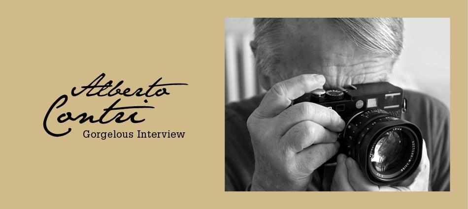 Gorgelous Interview. Alberto Contri.