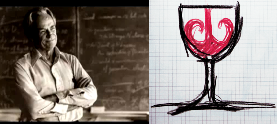 Universe in a glass of wine, by Richard Feynman