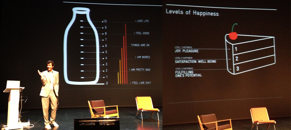 Design by happiness. Stefan Sagmeister.
