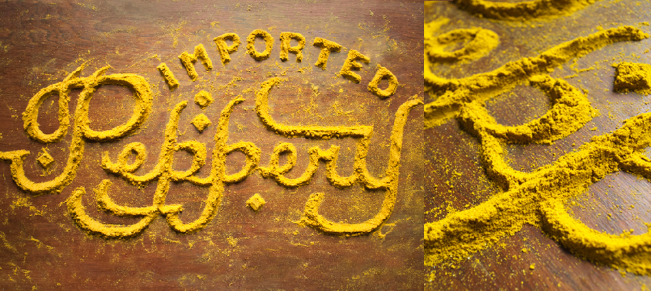 Food typography by Danielle Evans.